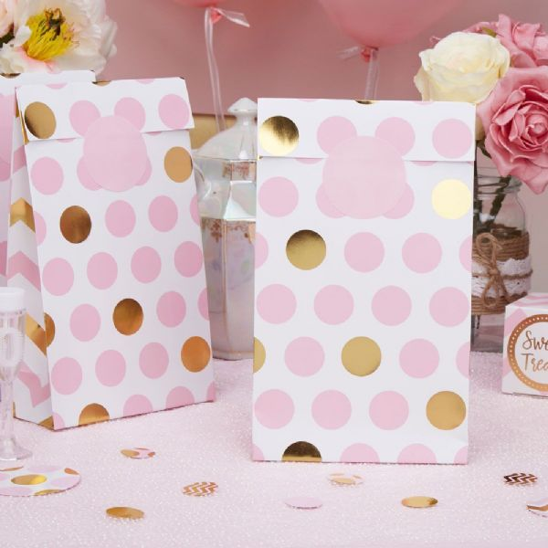 Pattern Works Pink Dots Party Bags (5)